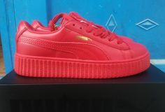 Puma Rihanna X Creepers Casual Shoes Leather Red Gold - Puma Shoes Cheap  Sneakers 8260266f4