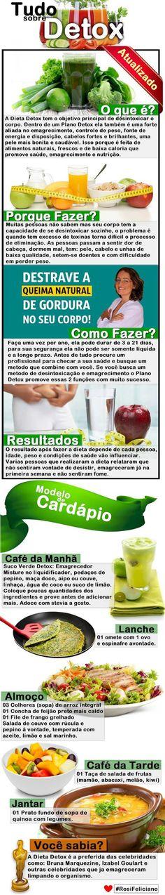 Dieta Detox Cardápio Completo Perca 9kg em 21 Dias (GARANTIDO)