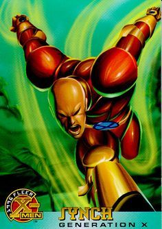 A mutant who is truly in-Synch with other mutants. Synch is able to sync up with other mutants and use their powers as if they were his own. Synch is a charter member of the junior mutant team, Generation X. Marvel Comic Universe, Comics Universe, Marvel Kids, Marvel Comics, Black Comics, Fantasy Sword, Man Character, Mass Effect, Marvel Characters
