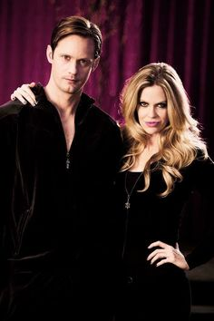 Oh look at that! A pic of two of my celeb crushes, how perfect. Alexander Skarsgård & Kristin Bauer van Straten from True Blood.