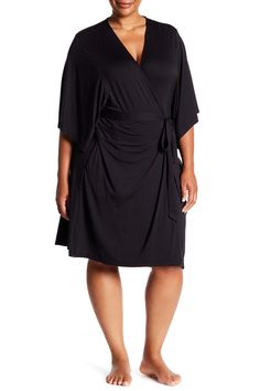 d2b2cf569a Luxe Milk Jersey Short Robe (Plus Size) by Barefoot Dreams on   nordstrom rack Barefoot