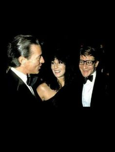 Halston, Cher & Yves Saint-Laurent at Studio54 1977 #NOWTHENANDWHEN
