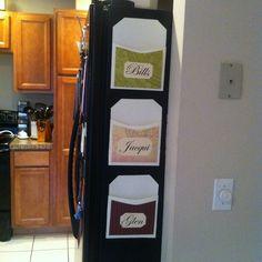 DIY Magnetic Mail Organizers.