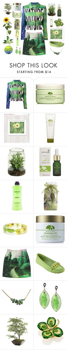 """Nature Natural"" by dlittlejohn ❤ liked on Polyvore featuring Moschino, Origins, Michael Todd, Pier 1 Imports, Paul by Paul Smith, Nine West, Stephen Dweck, Ethan Allen and Estée Lauder"