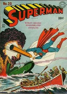 1943-01 - Superman Volume 1 - #20 - Superman's Secret Revealed; Destroyers from the Depths; Lair of the Leopard; Not in the Cards #SupermanFan #SupermanComics #Superman #ComicBooks  #DCComics