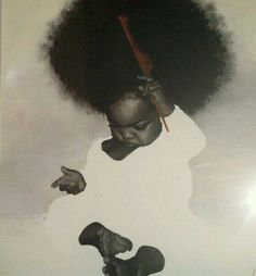 Black Art In America - The Leading Voice for the Black Arts Community. So cute and how every the artist made the afro it is amazing Black Art, Black Women Art, African American Art, African Art, Natural Hair Art, Natural Hair Styles, Natural Baby, Art Afro Au Naturel, Twisted Hair