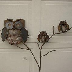Owl Family at Gold'n Country Gifts llc=recycle, upcycle, rethink, reuse, repurpose