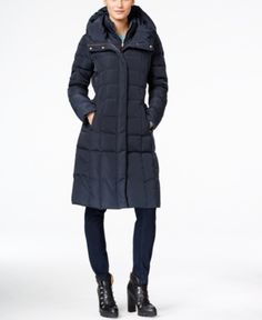 418e752684c Cole Haan Layered Down Puffer Coat - Blue S. Womens Winter Puffer  CoatsWomen s Puffer CoatsLong Winter CoatsDown Puffer CoatWinter  JacketsBlack ...