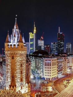 Eschenheimer Turm was a city gate, part of the late-medieval fortifications of Frankfurt am Main and is a landmark of the city Frankfurt - Germany Oh The Places You'll Go, Places To Travel, Places To Visit, Cities, Frankfurt Germany, Destinations, Central Europe, City Lights, Germany Travel