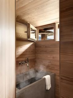 The quaint and cozy Sarreyer cabin designed by Swiss architect Rapin Saiz is an exquisite example of modern rustic architecture. Cottage Front Porches, Journal Du Design, Vevey, Timber Panelling, Oak Panels, Sleeping Loft, Little Cabin, Wooden Stairs, Swiss Alps