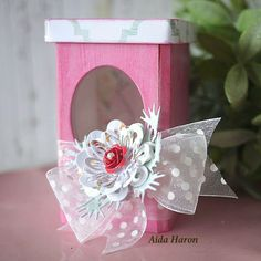 Sizzix Inspiration   Sweet Treat Canister by Aida Haron