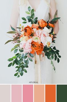 Get The Look: Colorful Wedding Bouquets // Pink and Orange Bridal Bouquet orange wedding ideas Get the Look: Colorful Wedding Bouquets Bridal Bouquet Pink, Bridal Flowers, Bouquet Flowers, Fake Flowers, Orange Wedding Flowers, Orange Flowers, Wedding Flower Bouquets, Orange Flower Bouquets, Peacock Wedding Colors
