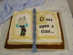 Fairytale book cake