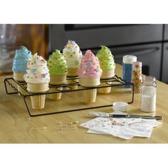 Nifty Home Products Ice Cream Cone Cupcake Baking Rack | Wayfair