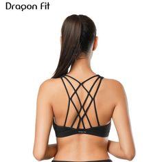 a25435562b Sport Center  SALE Dragon Fit Women Sports Bra For Running Gym Wire Free  Shakeproof Push Up Yoga Bra Female Seamless Underwear Fitness Sport Top