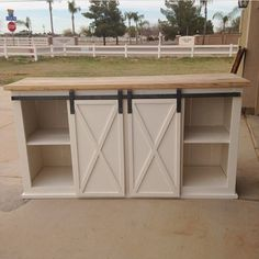 I have great news! One of my local friends who is a rock star carpenter has agreed to make and sell these console tables for me since we are moving. He is only taking a few orders at a time so if you live in Arizona and want one of these, email me at nikki_grandy@yahoo.com You can choose from 5,6,7 or 8 feet long, 3 different door styles and any color you want or I can recommend one.
