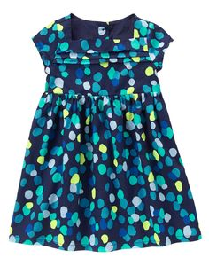 Pintuck Polka Dot Dress at Gymboree - might be too busy, but I do like it. Kids Outfits Girls, Cute Outfits For Kids, Toddler Girl Outfits, Girls Dresses, Summer Dresses, Baby Swag, Gymboree, Dot Dress, Polka Dot