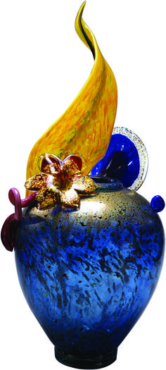 Dale Chihuly, Gold Over Turquoise Blue Venetian Glass Vase Art Of Glass, Blown Glass Art, Glass Artwork, Glass Vase, Dale Chihuly, Fused Glass, Stained Glass, Toledo Museum Of Art, Glass Museum