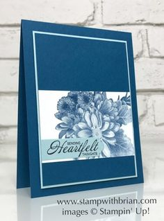 Heartfelt Blooms, Stampin' Up!, Brian King, sympathy card