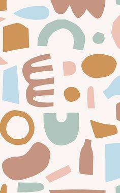 Pastel Shapes Abstract Pattern Vinyl Flooring