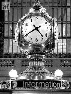 Grand Central Station information booth clock, NYC Andy Warhol, Voyage New York, New York Photography, Father Time, Somewhere In Time, I Love Nyc, As Time Goes By, City That Never Sleeps, Living In New York