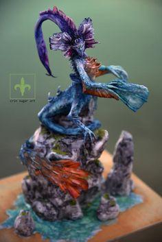 Monstruo de agua - cake by Crin sugarart