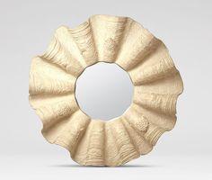 Ava Clamshell Mirror (Cream)