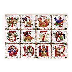 12 Days Of #Christmas 5'x7' Area #Rug #Holiday #HomeDecor