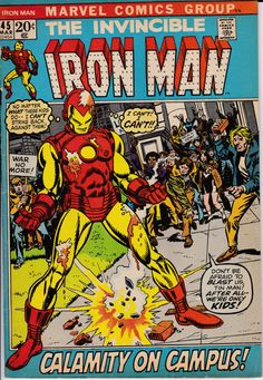 Iron Man 45 March 1972 Issue Marvel Comics Grade by ViewObscura