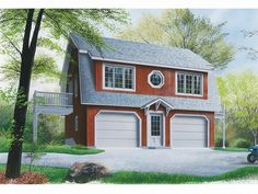 You'll love the look and feel of this country styled garage apartment plan. Description from thegarageplanshop.com. I searched for this on bing.com/images