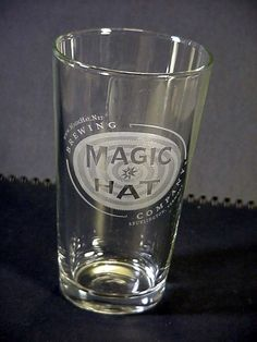 1 Pint Beer Advertising Glass Magic Hat Brewing Co Burlington Vermont Breweriana
