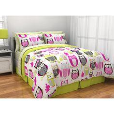 Tween Teen Bedding Pink With Owl Bed In A Bag Comforter