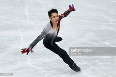 Daisuke Takahashi of Japan competes in the Men Free Skating during day two of the ISU Grand Prix of Figure Skating NHK Trophy at Sekisui Heim Super...