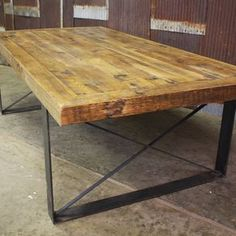 Reclaimed Barn Wood Conference Table by Ron Walker