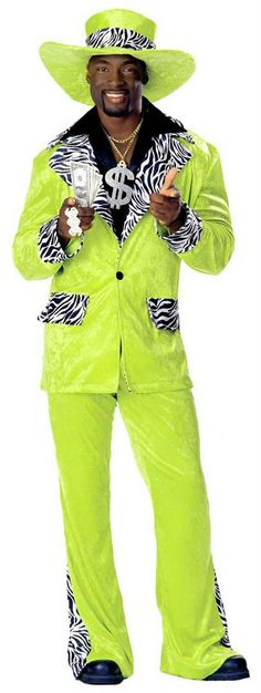 Adult Lime Green Dr. Styles Pimp Costume - Candy Apple Costumes - Pimp & Ho Costumes