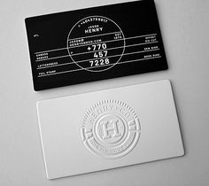 "Designed by Ferreira Design Company | Country: United States  ""Lionel Ferreira developed and designed a new identity for Henry + Co this year. The business cards are part of the new marketing materials package."""