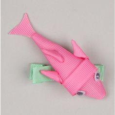 fish hair bow
