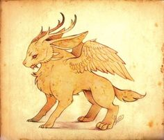 Wolpertinger: Bavarian Folklore Morphology: The Wolpertinger is a hare with antlers, fangs and wings. Occasionally confused with its North American cousin, the Jackalope, which is simply a horned hare.