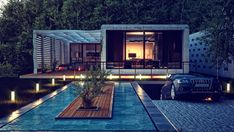 House in the Crimea by Andre Rosh, via Behance