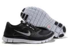 Herre/Dame Nike Free Run 3 Sort/Sølv
