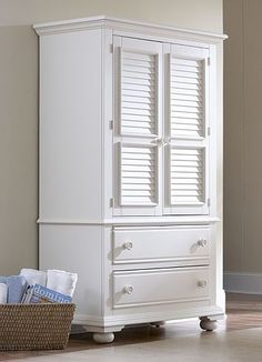 Living rooms cottage retreat ii armoire living rooms - Cottage retreat collection bedroom furniture ...