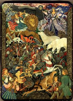 Vera Smirnova, Palekh Lacquer box, The Chronicles of Narnia