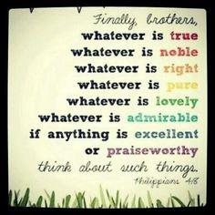 Amen...  clear any negative thinking.