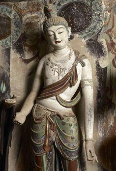 莫高窟第45窟 西壁佛龕彩塑臨品 盛唐 左脅侍菩薩