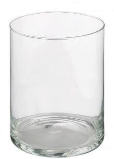 Glas-Vase Zylinder, 20 cm - Klassische Vase aus Glas. Mit dieser Deko-Vase bringen Sie Ihre Blumen besonders gut zur Geltung. Dekovase aus Glas in Zylinder-Form.