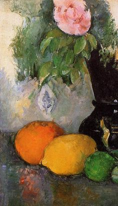 Flowers and Fruit, c.1880 by Cezanne                              …                                                                                                                                                     More