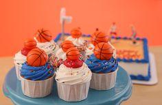Basketball cupcake toppers!