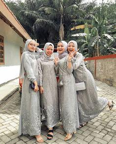 Hijab Dress Party, Hijab Style Dress, Hijab Wedding Dresses, Hijab Chic, Kebaya Muslim, Kebaya Hijab, Muslim Dress, Bridal Hijab, Simple Bridesmaid Dresses