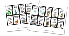 more cards to print out for our new revamped chore chart....she has these as discipline cards, but I'm going to use them as extra chore points ;)  great way to get some 'deep cleaning' done.  :D