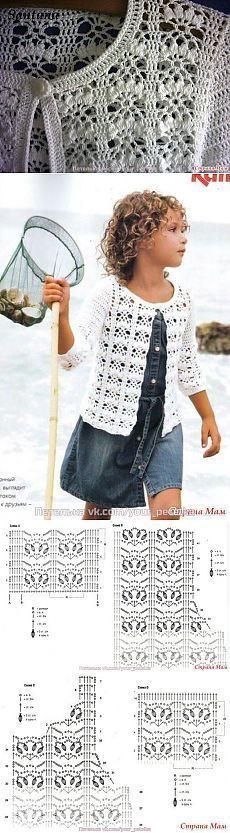 Ажурная кофточка крючком [] #<br/> # #Crochet #Cardigan,<br/> # #Crochet #Sweaters,<br/> # #Crochet #Clothes,<br/> # #Crochet #Patterns,<br/> # #Cardigans,<br/> # #Crochet,<br/> # #Motif,<br/> # #Jacket,<br/> # #Tissue<br/>